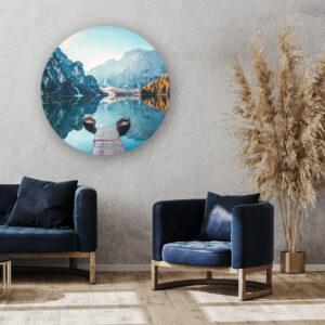 Muurcirkel Venetië | Sfeer foto | Forex | 80 cm | Uniek