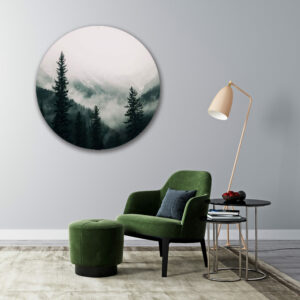Muurcirkel Forrest | Sfeer foto | Forex | 80 cm | Uniek