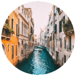 Muurcirkel Venetië | Forex | 80 cm | Uniek