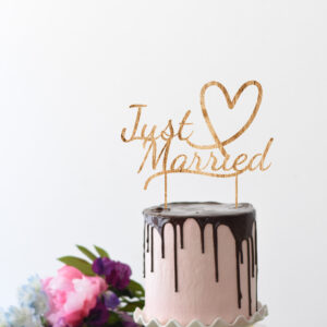 Taarttopper Just Married | Uniek