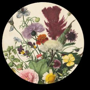 Behangcirkel Boeket bloemen | Uniek