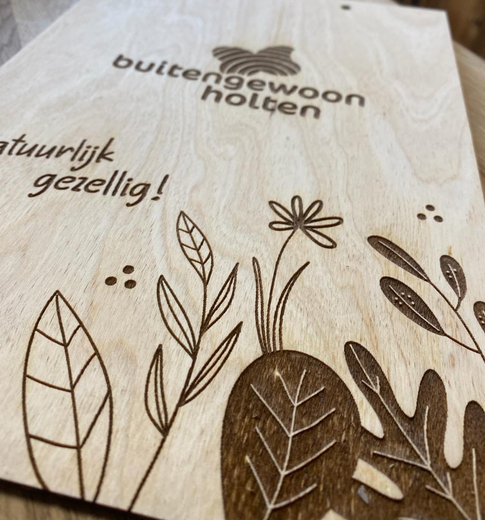 Menukaart hout